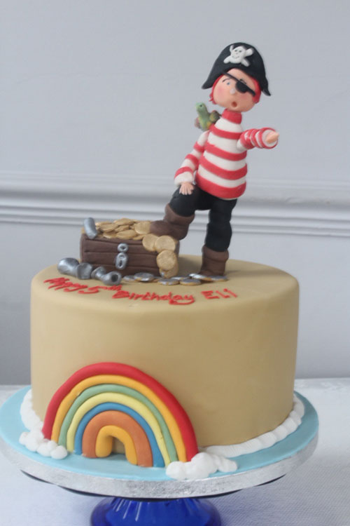 3d Pirate Birthday Cake With Treasure Chest Bakery