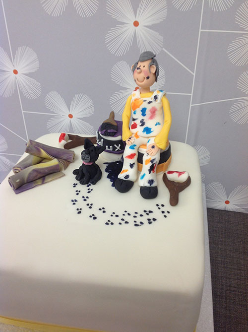 Fine Messy Painter Birthday Cake Bakery Funny Birthday Cards Online Hendilapandamsfinfo