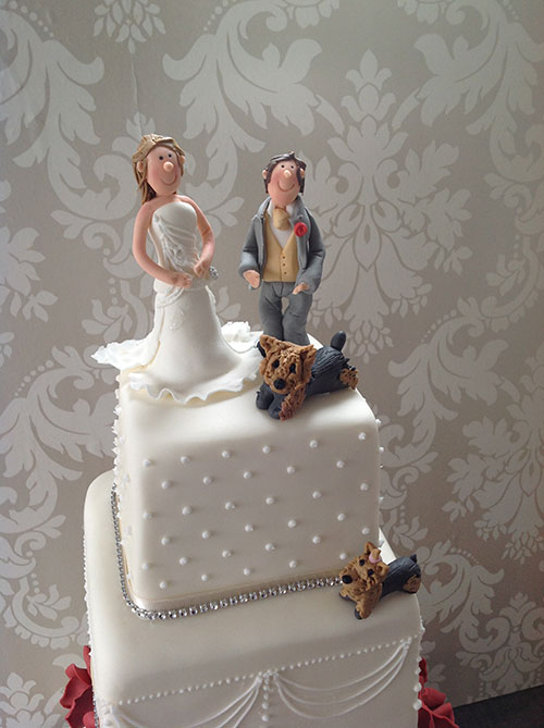 personalised wedding cake toppers northern ireland and groom topper with their westie dogs bakery 18253