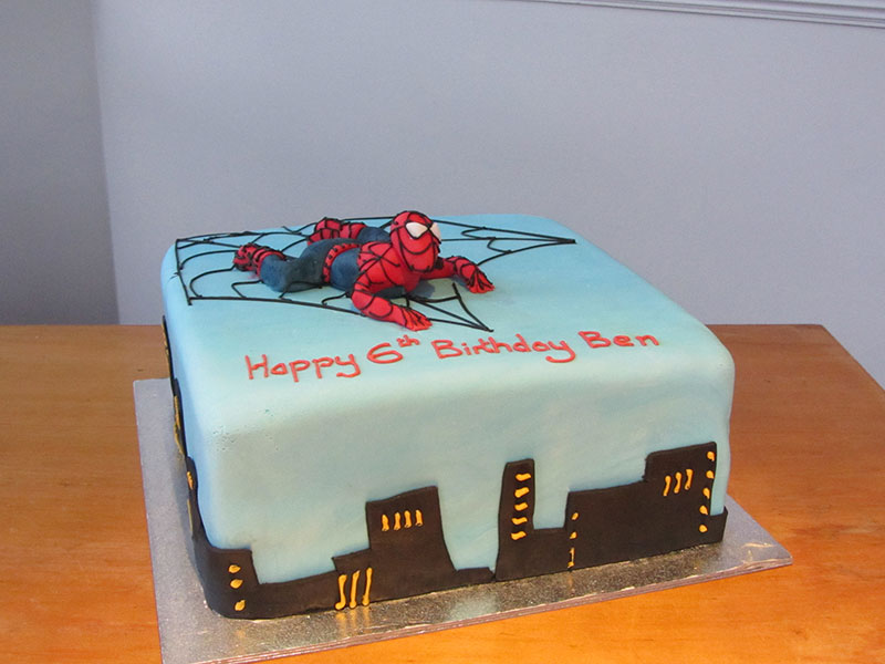 Outstanding Spiderman Birthday Cake Bakery Personalised Birthday Cards Beptaeletsinfo