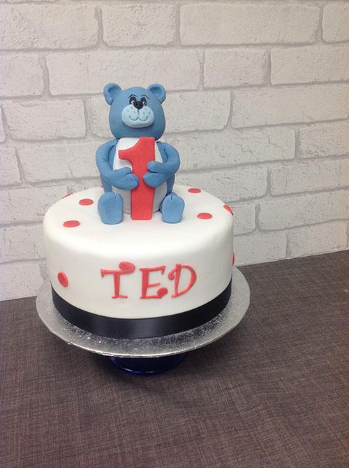 Teddy Bears First Birthday Cake