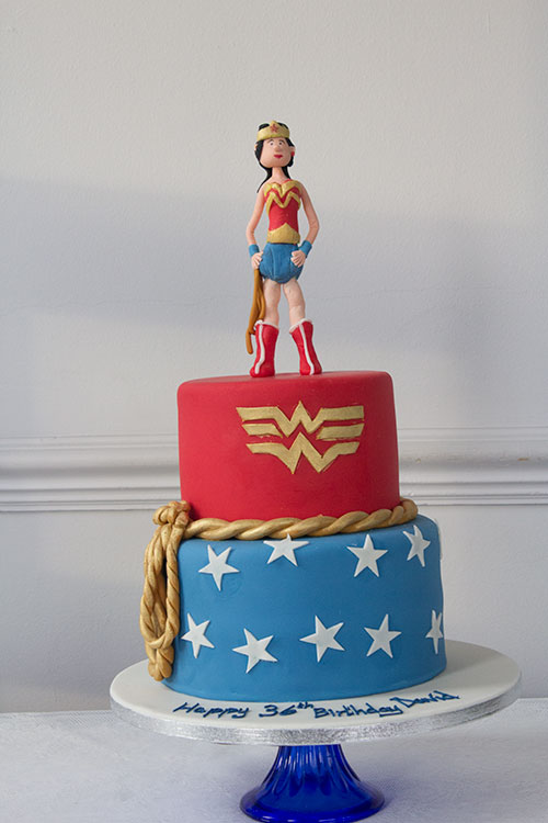 wonder woman wedding cake two tier wonderwoman birthday cake bakery 27587