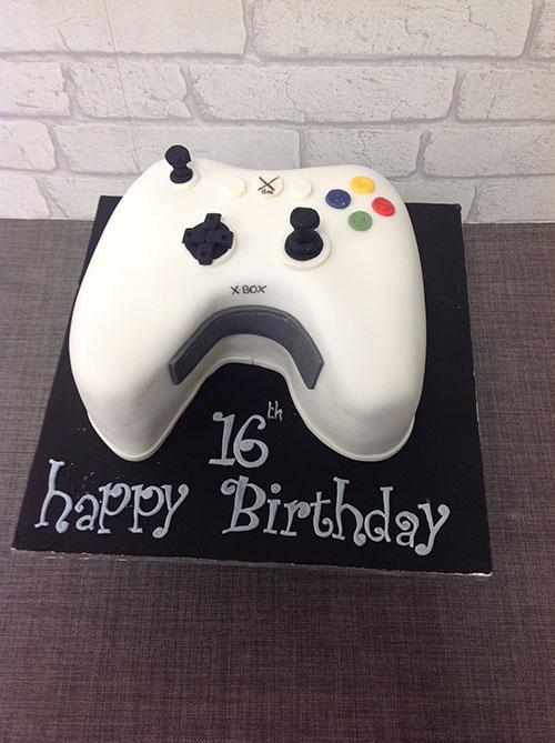 Xbox Shaped Controller Birthday Cake