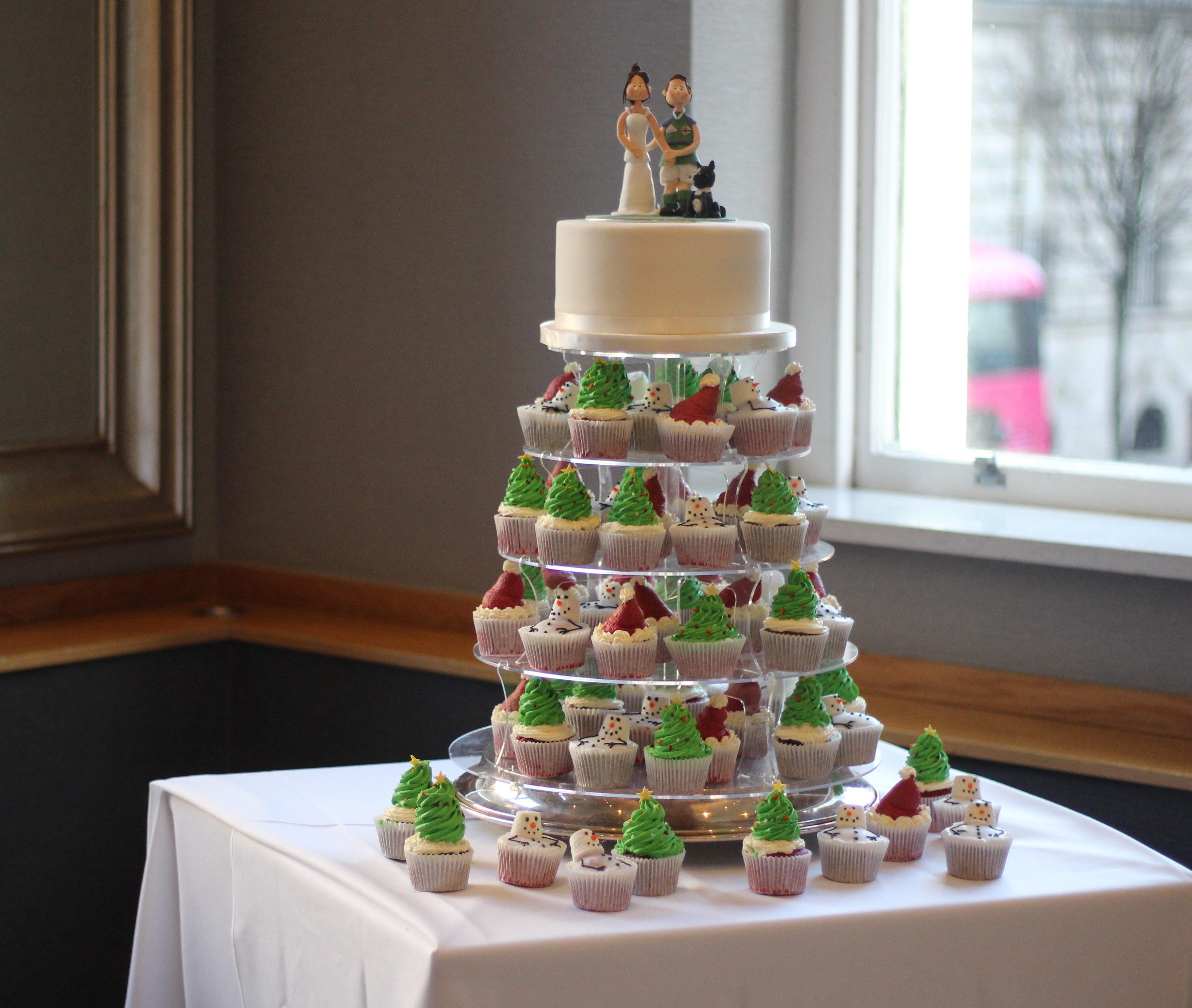 Cupcakes wedding cupcakes Christmas cupcakes cake topper bride and groom topper