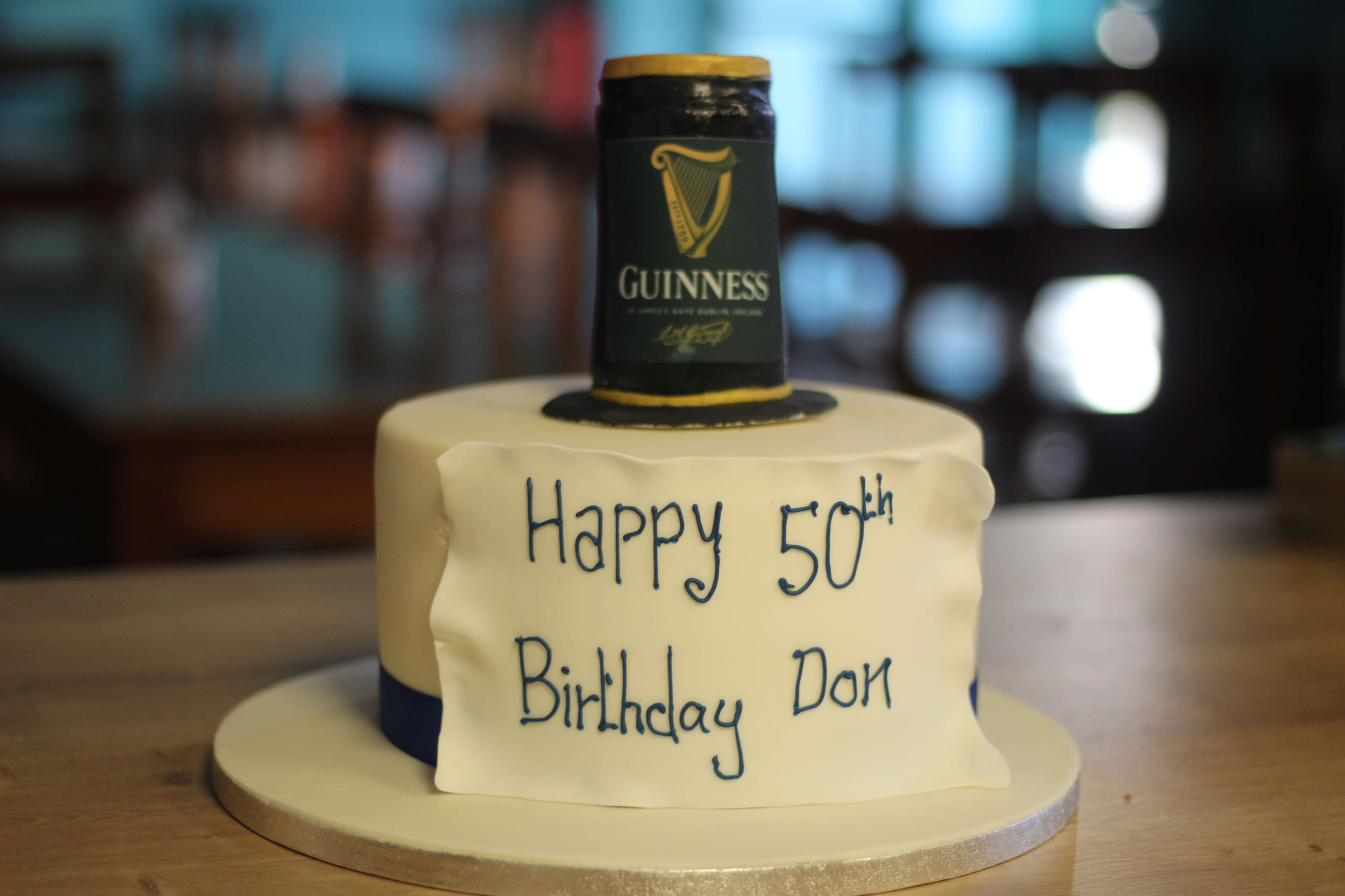 Guinness Tin drinking cake